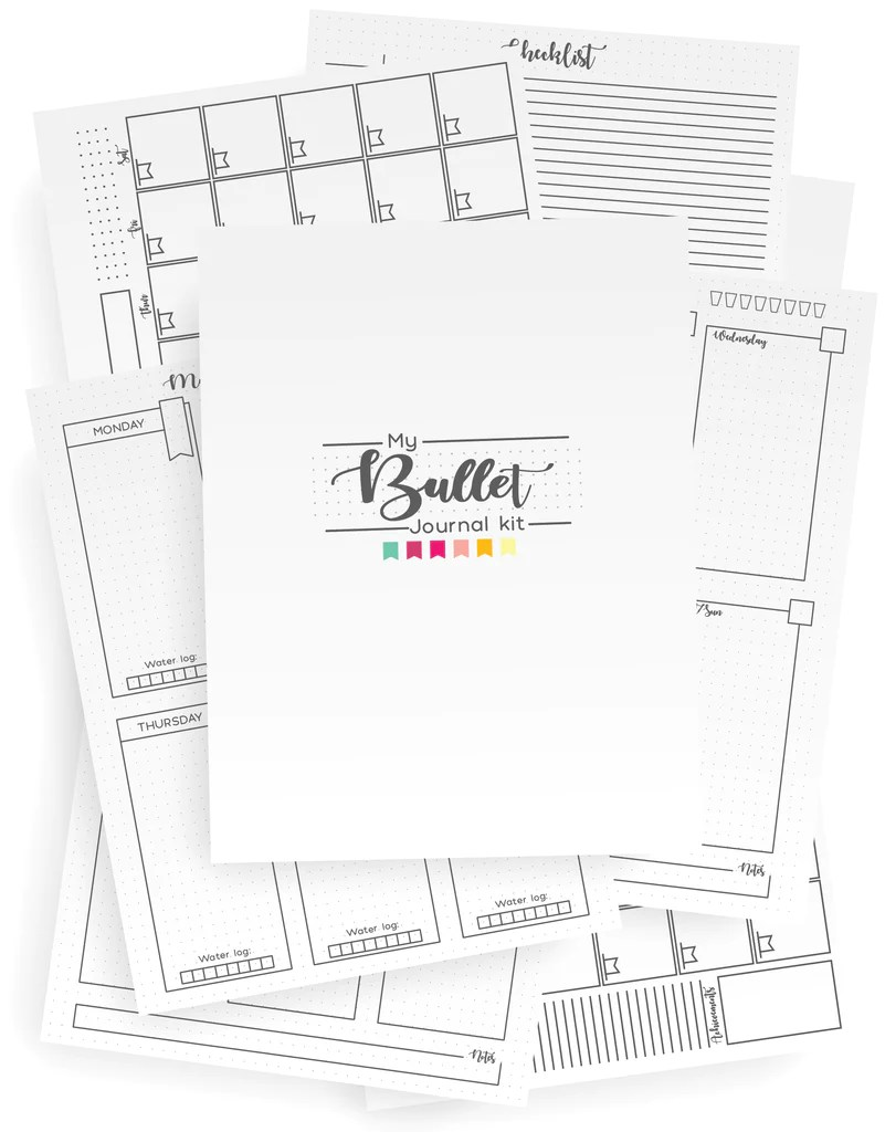graphic relating to Printable Journaling Pages identify 89 Bullet Magazine Web page Options Toward Persuade Your Up coming Obtain