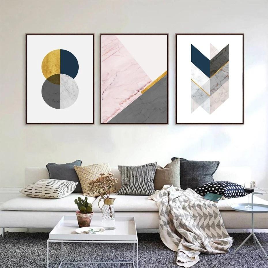 modern minimalist abstract living