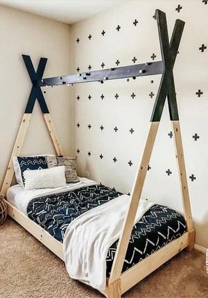 Kids teepee bed 9 2048x - DIY Kids Teepee Bed