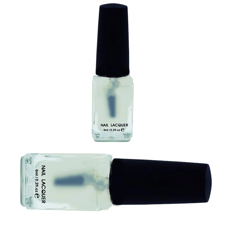 matte top coat shiny primer nail