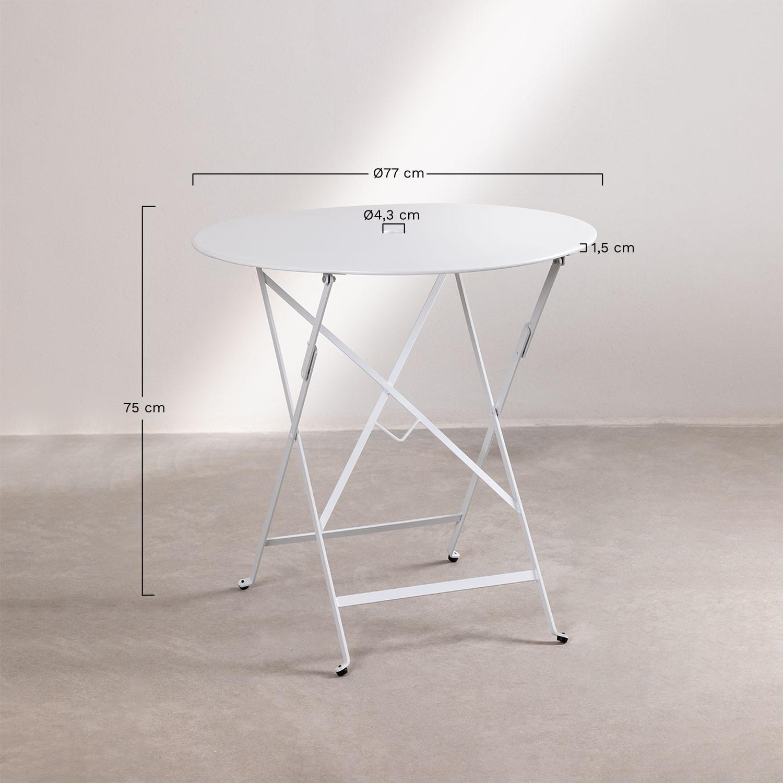 table pliante exterieure ronde en acier
