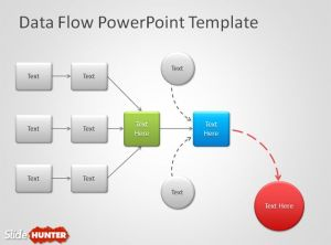 Free Data Flow PowerPoint Template