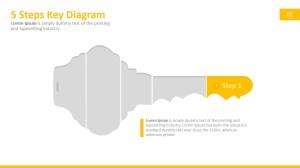 Five Steps Key Clipart for PowerPoint  SlideModel