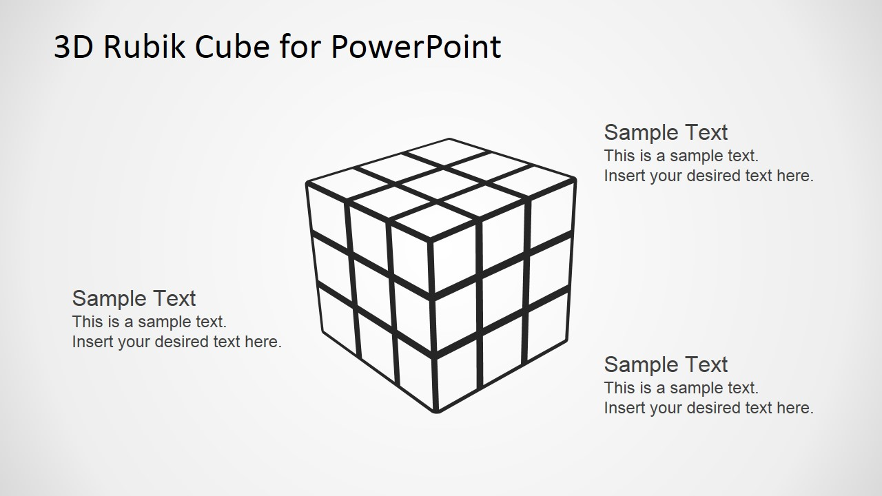 hight resolution of  rubik s cube outline for powerpoint