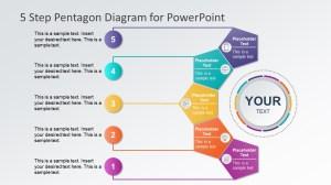5 Steps Pentagon Shapes PowerPoint Diagram  SlideModel
