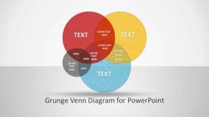 Grunge Venn Diagram for PowerPoint  SlideModel