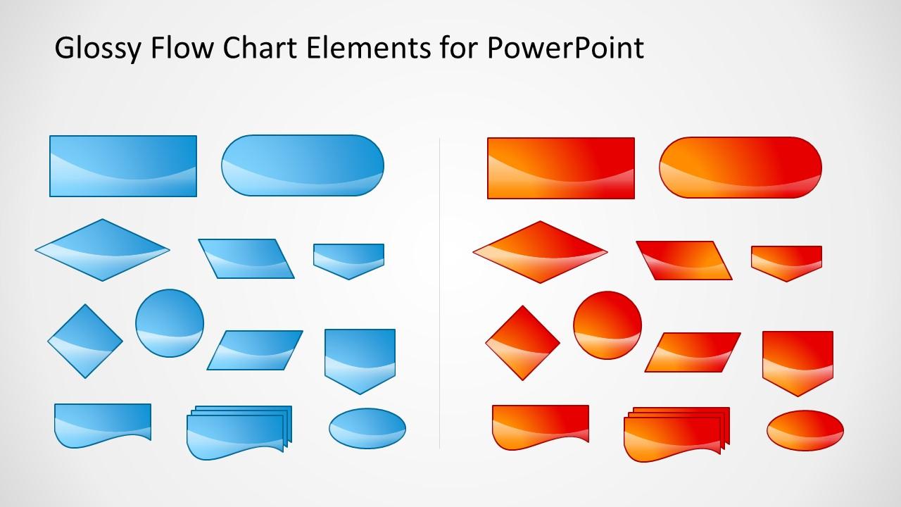 Glossy Flow Chart Template for PowerPoint - SlideModel
