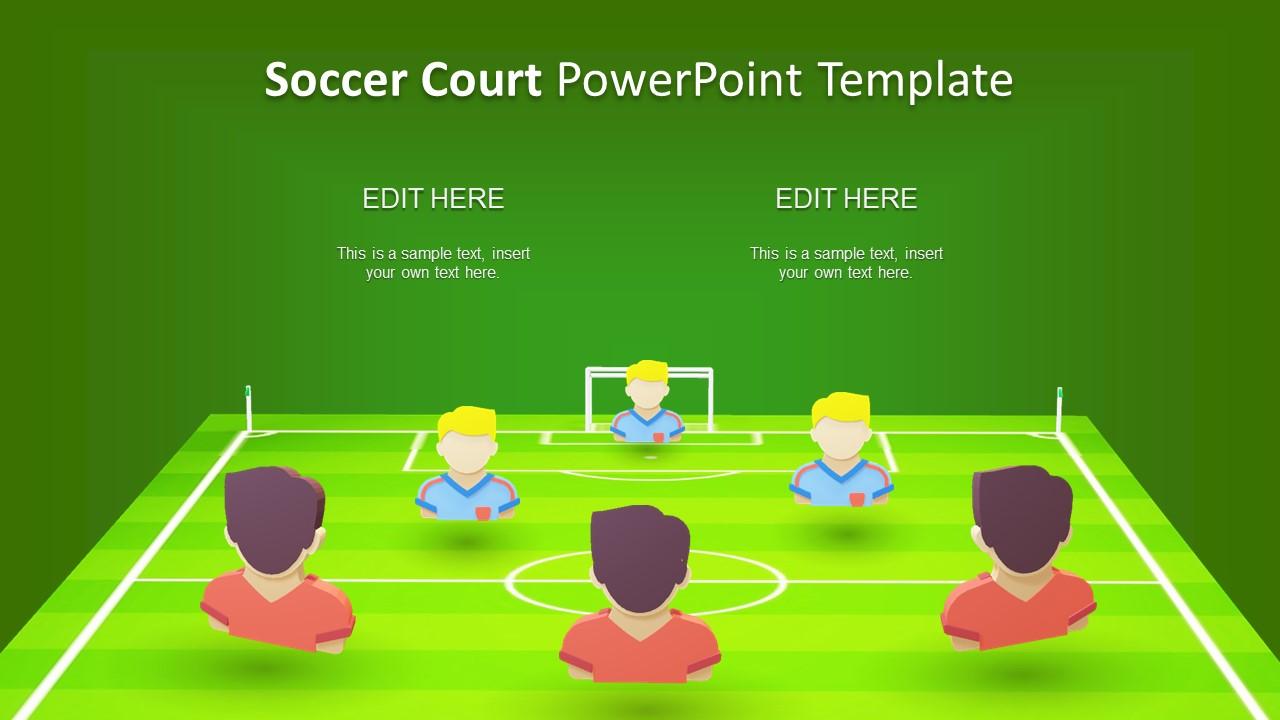 Creative 3D Presentation Of Football