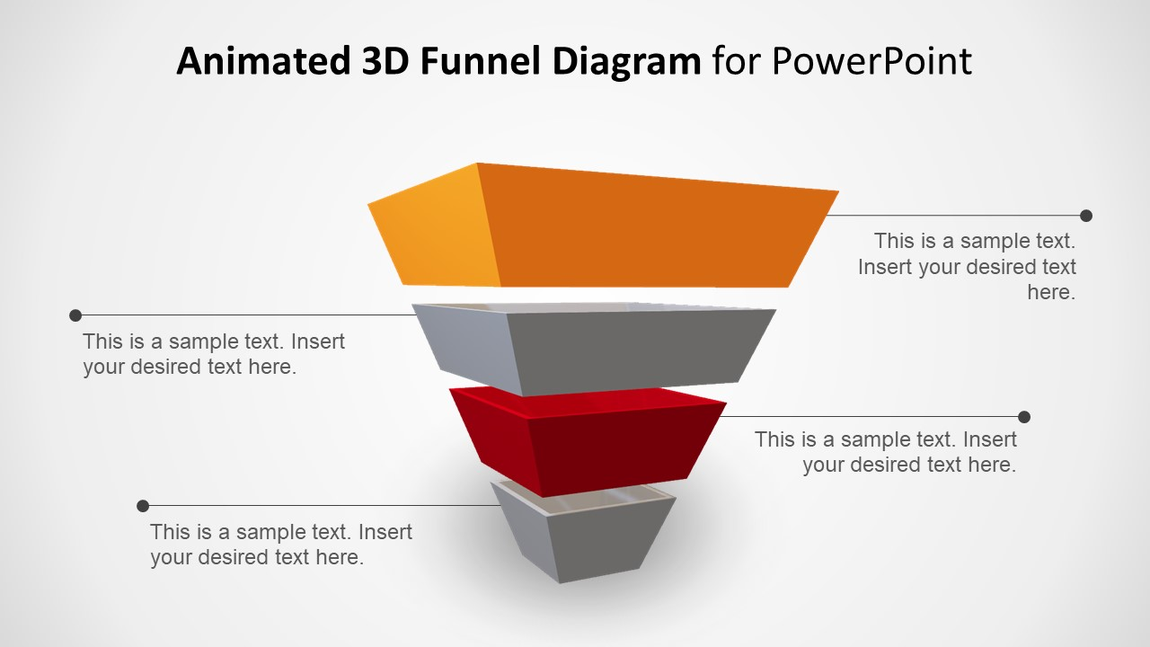 animated tree diagram honeywell zone valves wiring 3d 4 step pyramid funnel concept for powerpoint - slidemodel