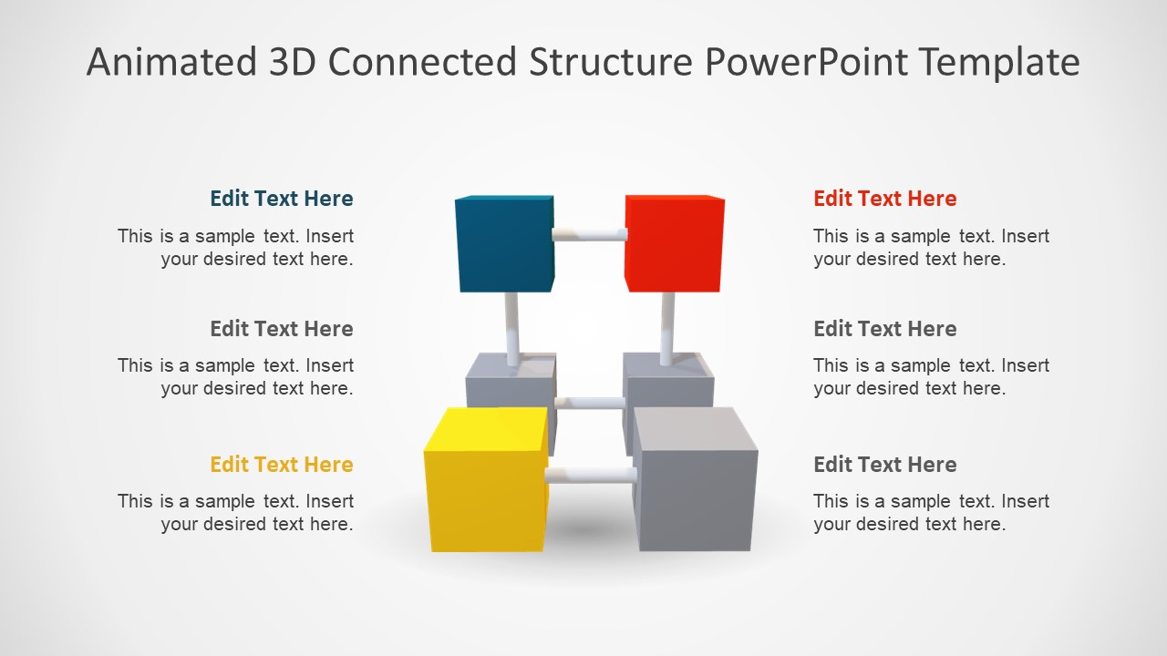 hight resolution of 3d cubes ppt segments diagram