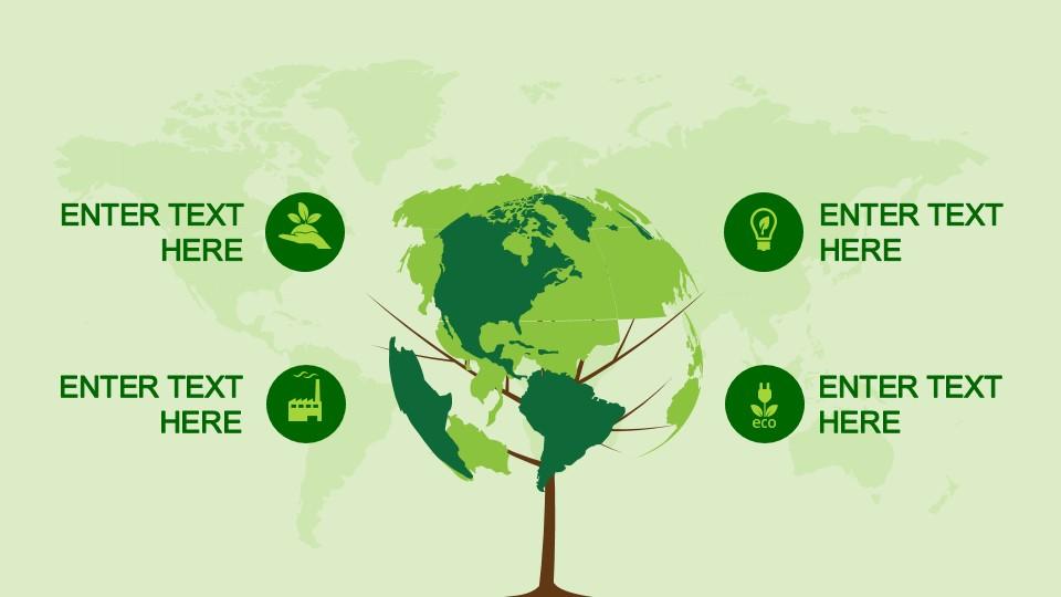 Animated Globe Tree Clipart Design For Powerpoint Slidemodel