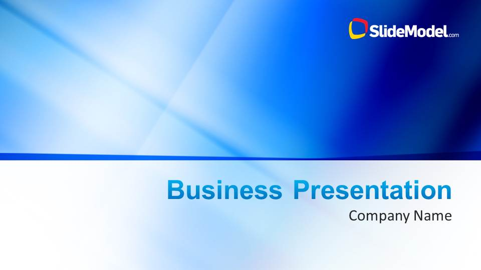 Blue Company Profile Business PowerPoint Template SlideModel