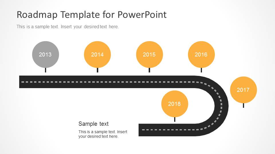 Timeline 4 years powerpoint template. Timeline Roadmap Powerpoint Template Slidemodel