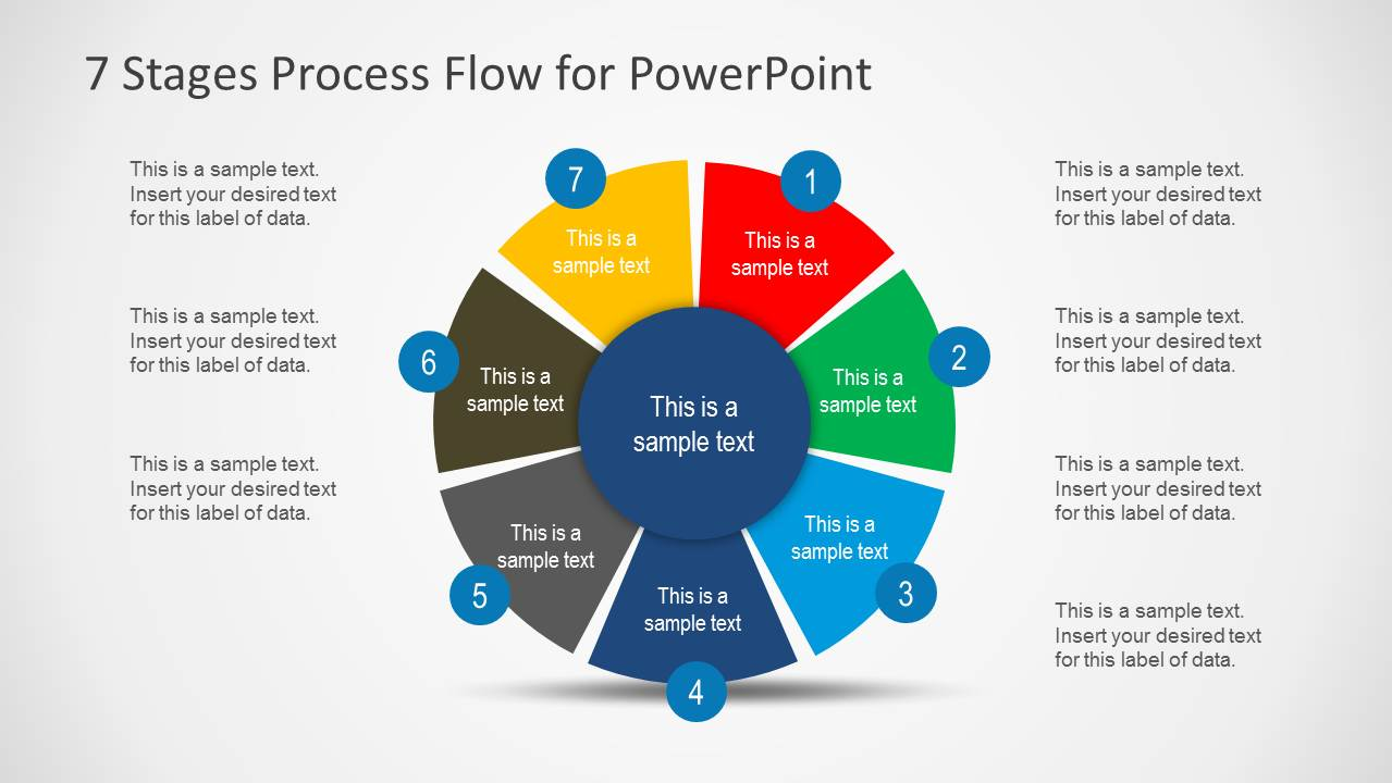 hight resolution of 7 stages cycle process flow diagram for powerpoint