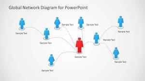 Global Network Diagram for PowerPoint  SlideModel