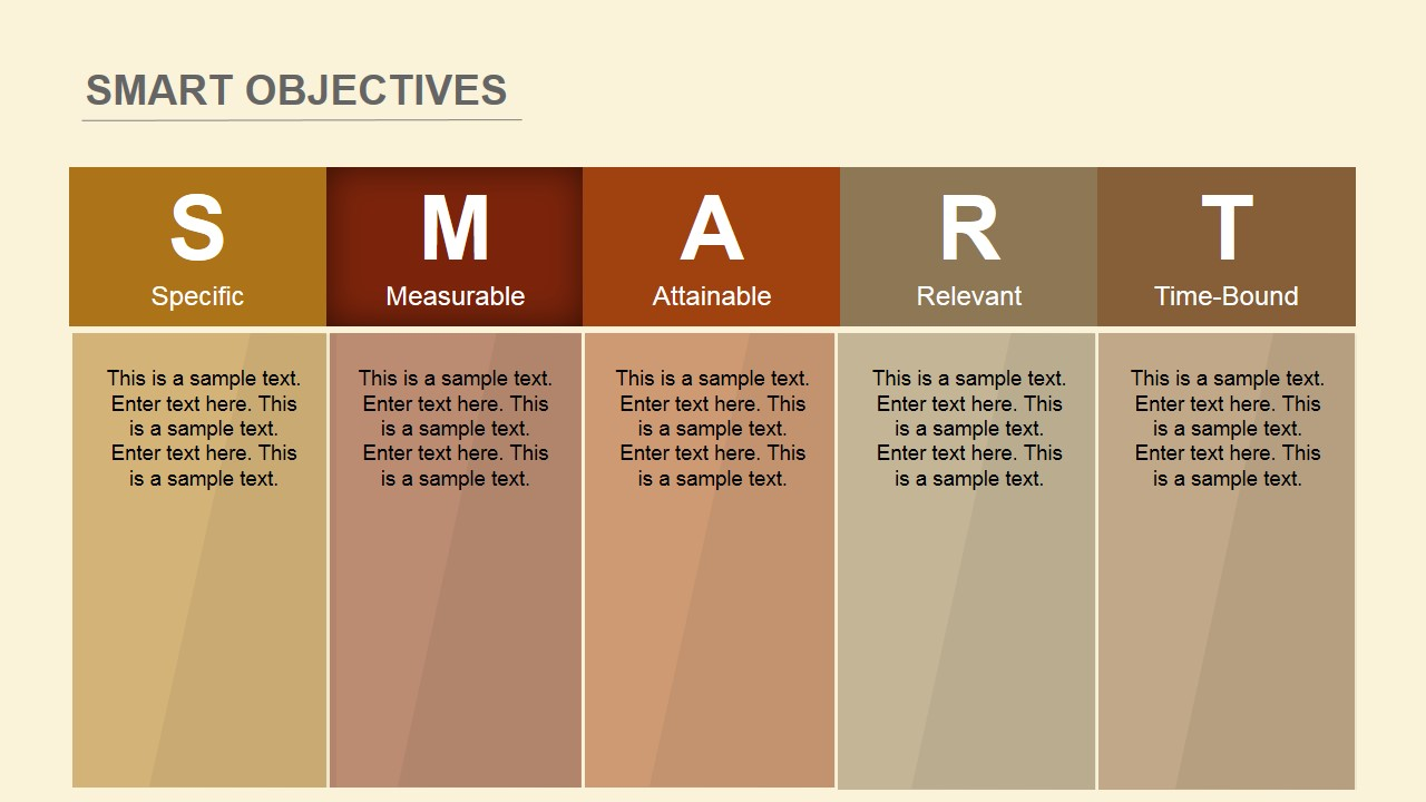 Flat SMART Objectives PowerPoint Template