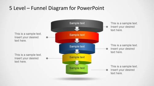 small resolution of 5 level funnel diagram template for powerpoint