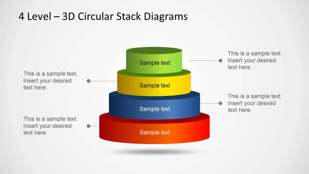 medium resolution of 3d circular stack diagram for powerpoint with 4 levels