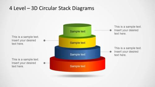 small resolution of 3d circular stack diagram for powerpoint with 4 levels