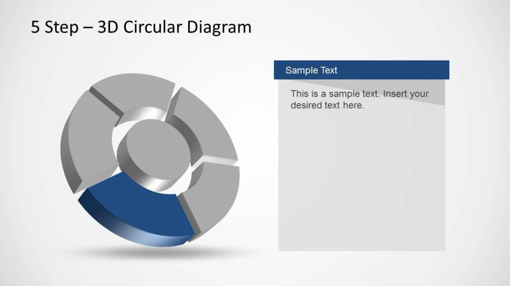 medium resolution of 5 step 3d circular diagram template for powerpoint