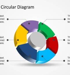 6 step 3d circular diagram template for powerpoint [ 1279 x 720 Pixel ]