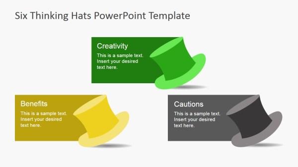 De Bono39s Six Thinking Hats PowerPoint Template SlideModel