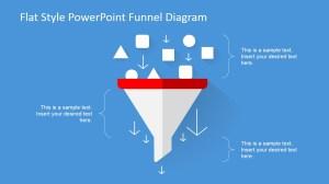 Flat Design Funnel Diagram for PowerPoint  SlideModel