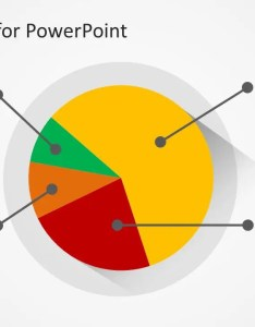 Example of pie chart design for powerpoint with flat style also template slidemodel rh