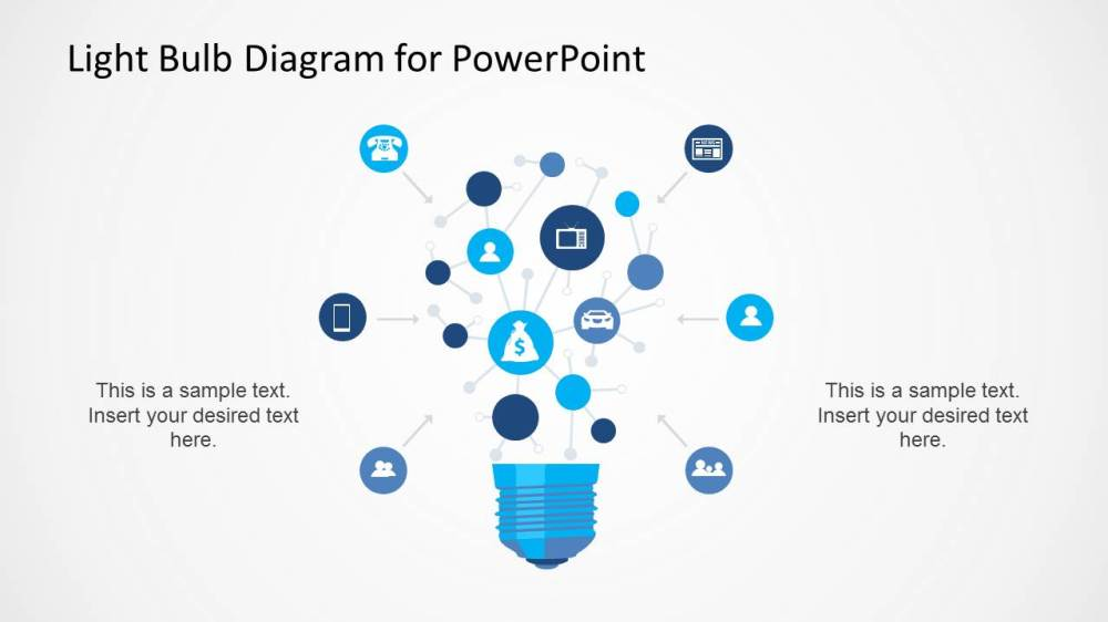 medium resolution of light bulb diagram template for powerpoint slidemodel