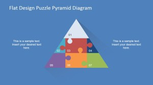 Flat Design Puzzle Pyramid Diagram  SlideModel