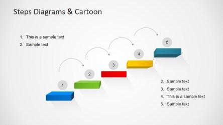 steps template ladder 3d powerpoint cartoons diagrams slidemodel templates