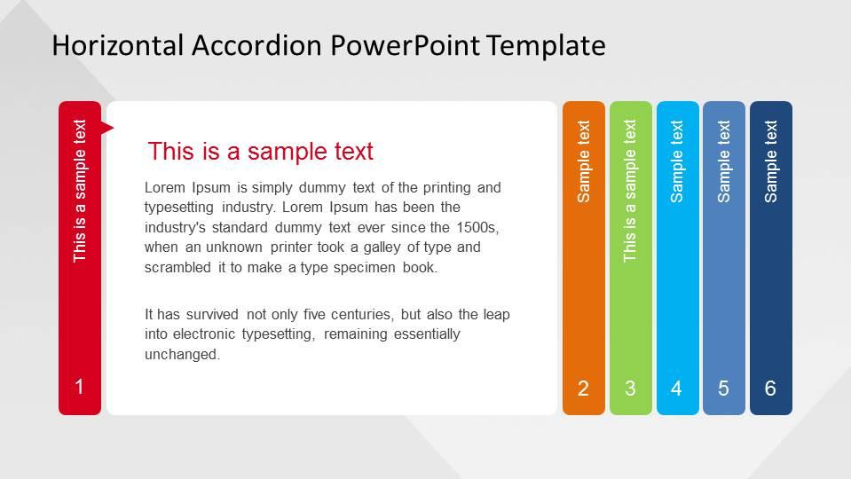 Horizontal Accordion PowerPoint Template  SlideModel