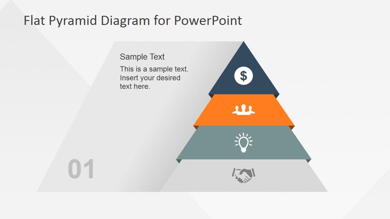hight resolution of flat pyramid diagram 4 steps 2 level