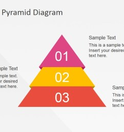 flat powerpoint diagram with 3 steps flat powerpoint pyramid 3 steps described  [ 1280 x 720 Pixel ]