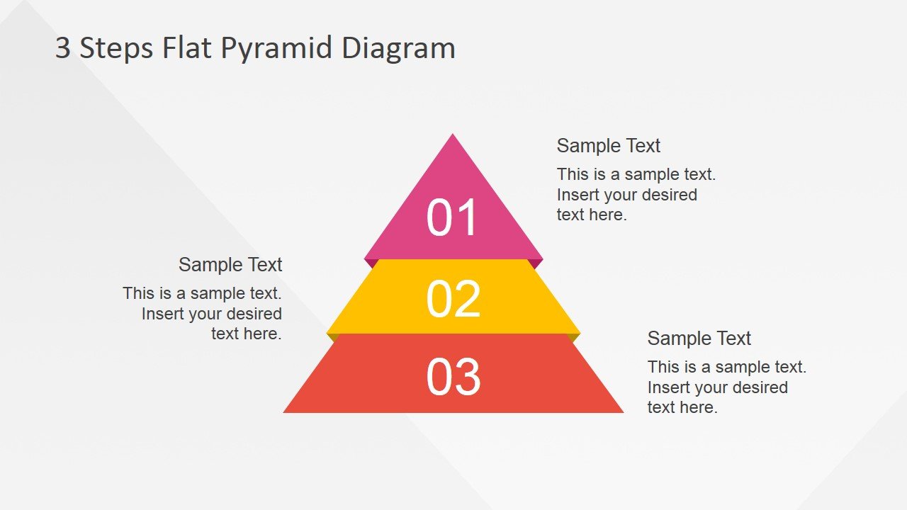 hight resolution of flat powerpoint diagram with 3 steps flat powerpoint pyramid 3 steps described