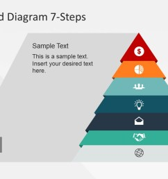 pyramid chart flat vector diagram design for powerpoint  [ 1280 x 720 Pixel ]