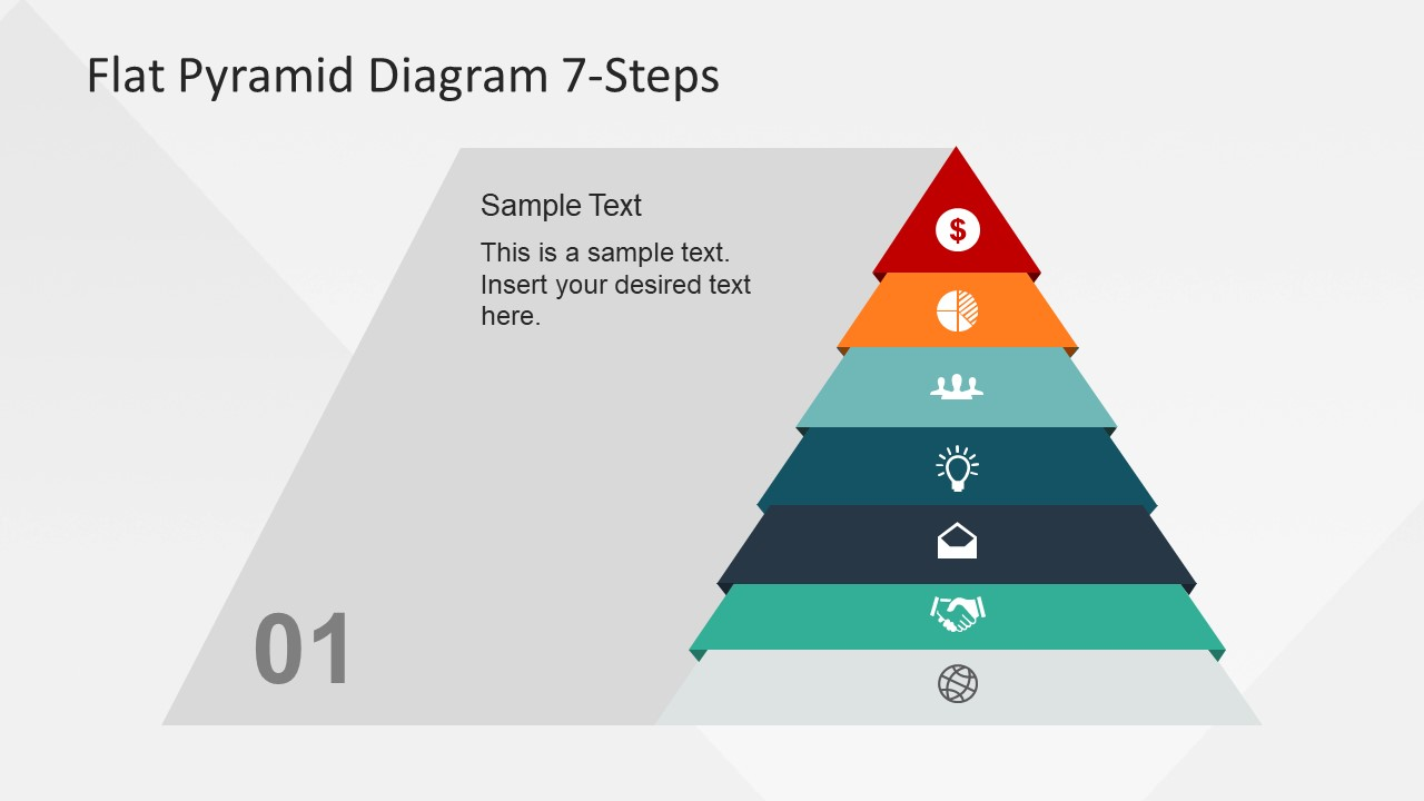 hight resolution of  pyramid chart flat vector diagram design for powerpoint