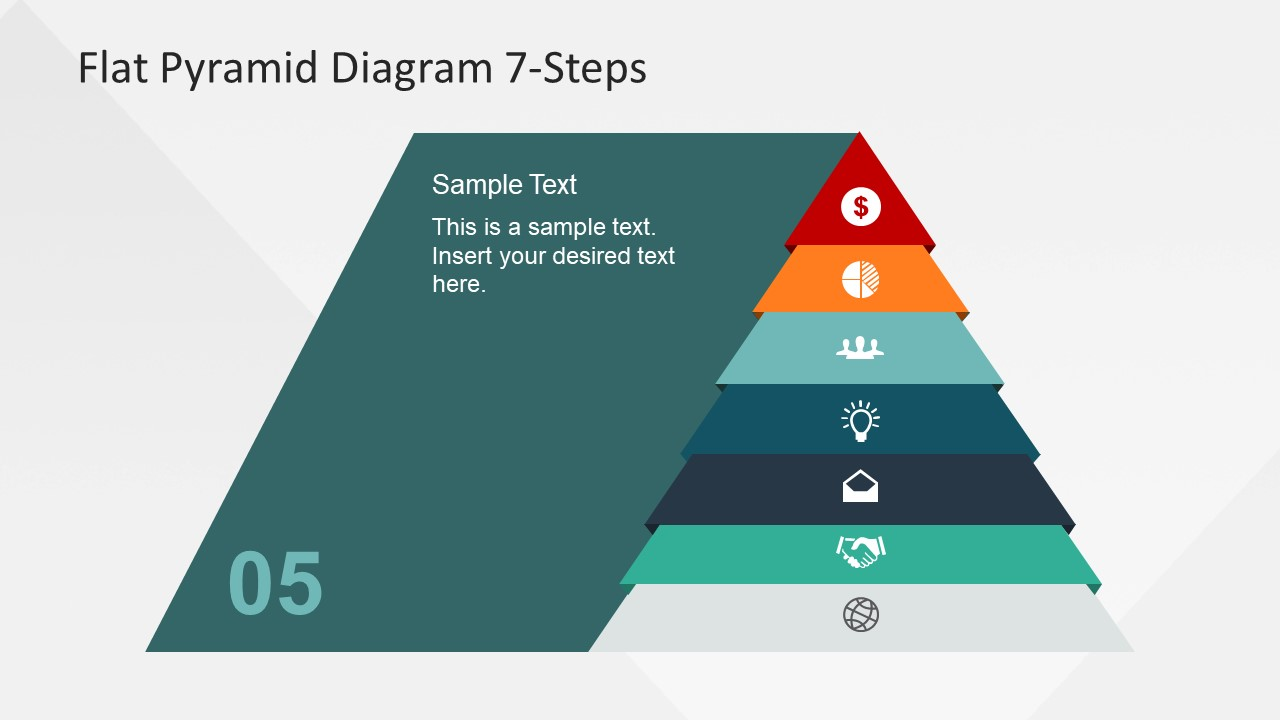 Levels Flat Pyramid Diagram Template For Powerpoint Slidemodel