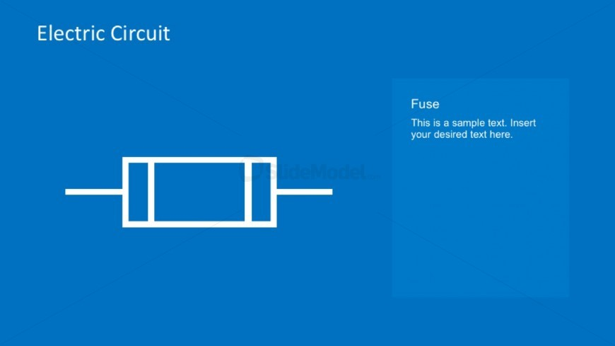 Fuse Symbol For Electrical Circuits In PowerPoint
