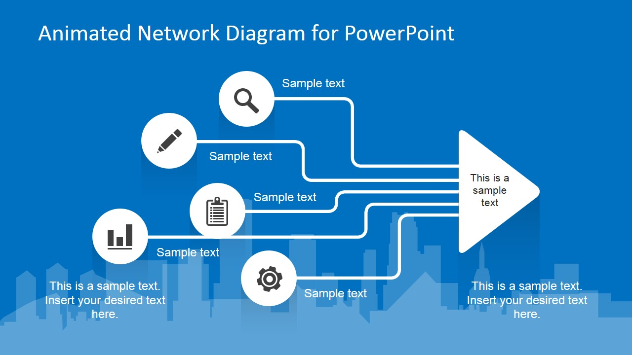 Animated Network Diagram PowerPoint Template SlideModel
