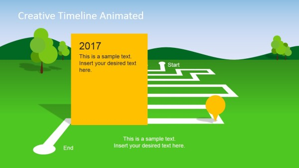animated landscape powerpoint timeline