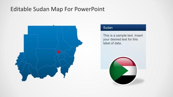 Editable Sudan Map Template SlideModel