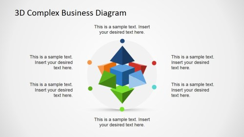 small resolution of  3d circular flow diagram in powerpoint using shapes 3d complex business diagram for powerpoint