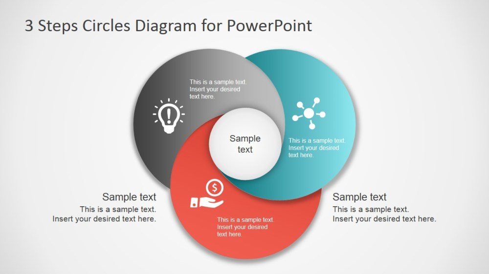 medium resolution of 3 step circles diagram for powerpoint