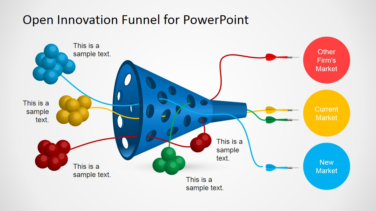 visio tree diagram template uk domestic wiring symbols open innovation funnel for powerpoint - slidemodel