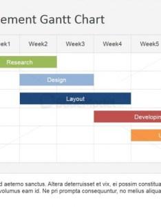 Flat horizontal bar gantt chart template also slidemodel rh