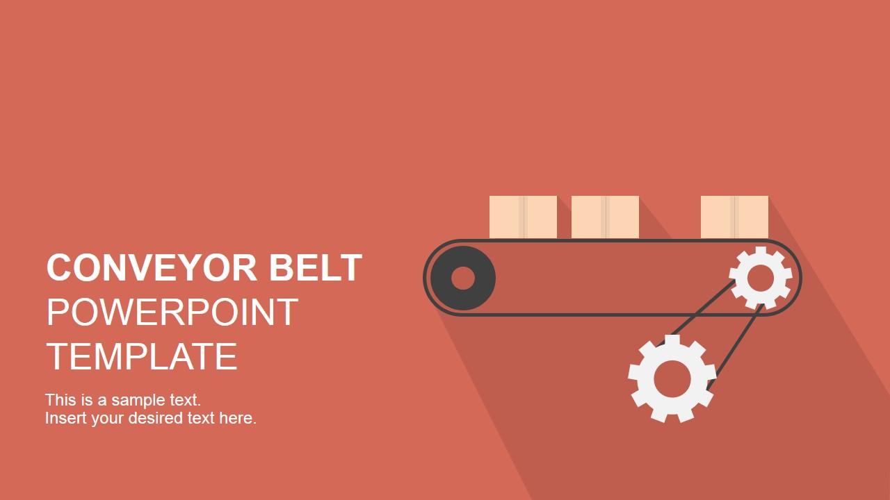 Graphic Tree Diagram Flat Conveyor Belt Powerpoint Template Slidemodel