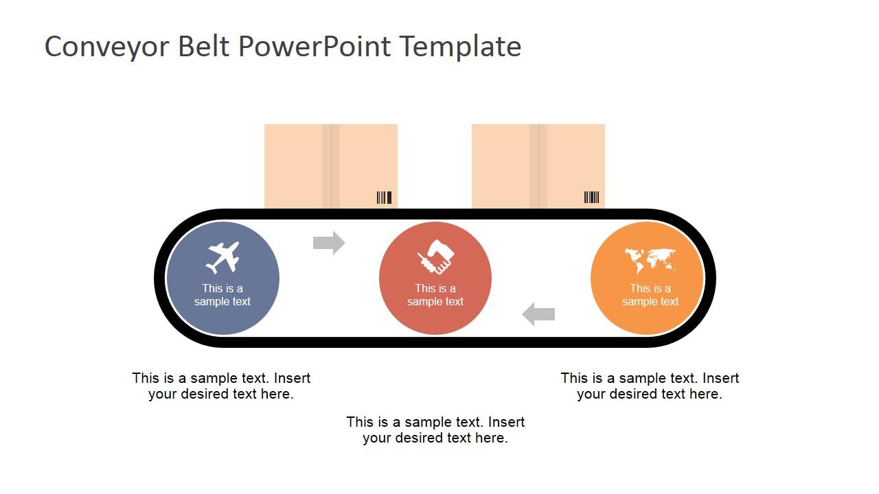 hight resolution of flat conveyor belt powerpoint template