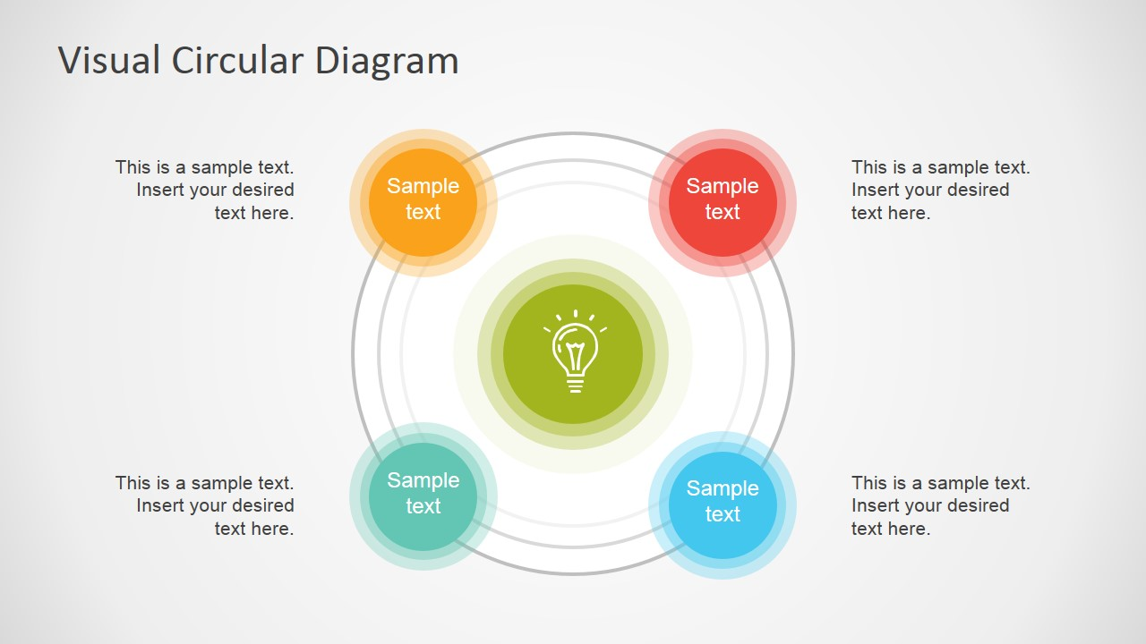 hight resolution of circular 4 steps powerpoint diagram