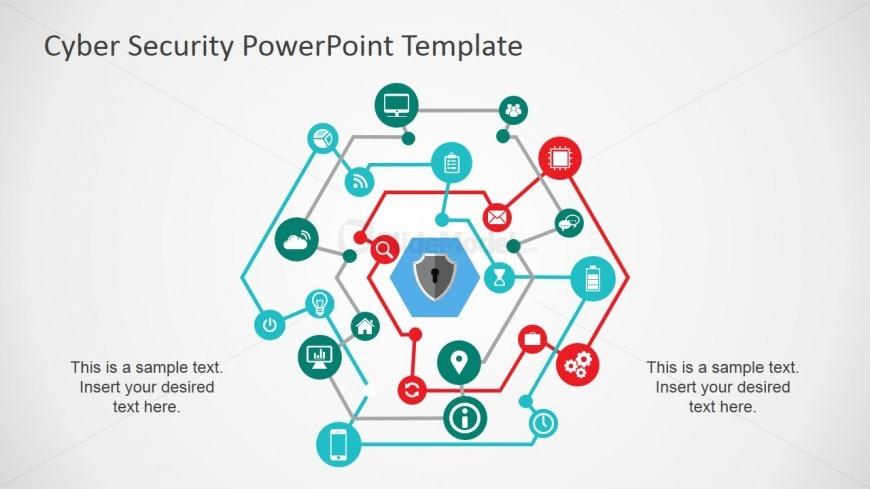 Computer Network Diagram For PowerPoint SlideModel